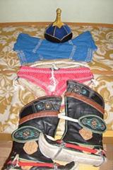 モンゴル相撲力士の着物