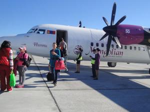 ウランバートル〜ムルン間の飛行機